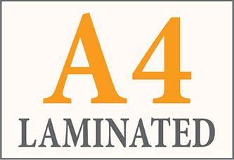 A4 Laminated Printing